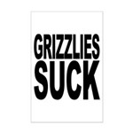 Grizzlies Suck Mini Poster Print