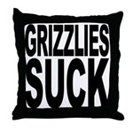 Grizzlies Suck Throw Pillow
