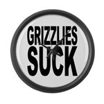 Grizzlies Suck Large Wall Clock