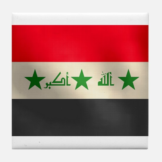 Iraqi Flag Tile Coaster