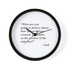Scientist Vs God Wall Clock