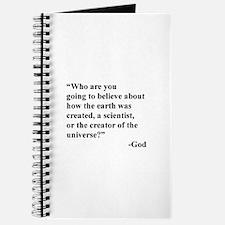 Scientist Vs God Journal