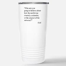 Scientist Vs God Travel Mug