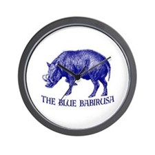The Blue Babirusa - Wall Clock