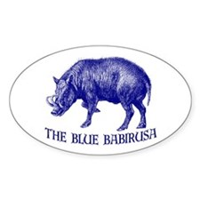 The Blue Babirusa - Oval Decal