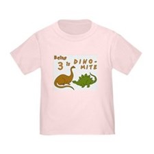 Dinosaur 3rd Birthday T