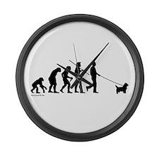 Westie Evolution Large Wall Clock