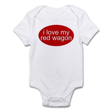 i love my red wagon funny Infant Creeper