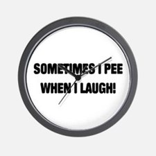 Laugh & Pee Wall Clock