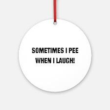 Laugh & Pee Ornament (Round)