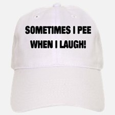 Laugh & Pee Baseball Baseball Cap