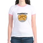 Powered By Waffles Jr. Ringer T-Shirt