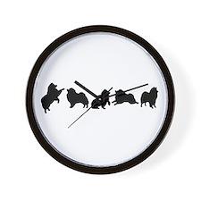 Keeshonden Clock