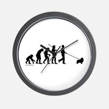 Sheltie Evolution Wall Clock