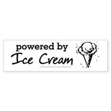 Powered By Ice Cream Bumper Sticker