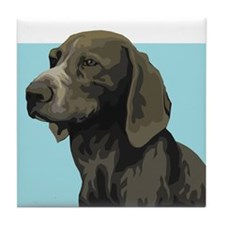 German Shorthair Pointer Tile Coaster