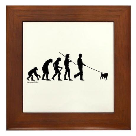Pug Evolution Framed Tile