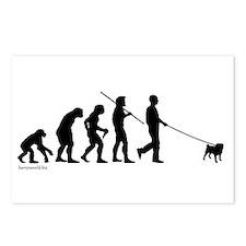 Pug Evolution Postcards (Package of 8)
