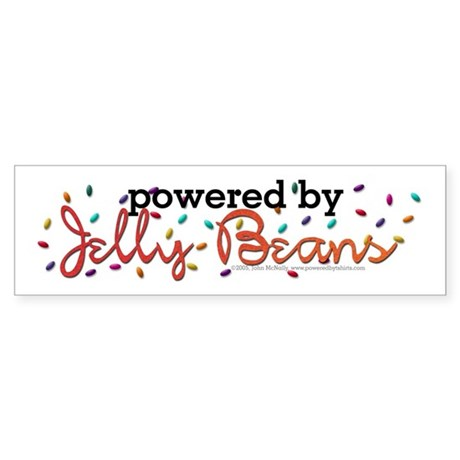 Powered By Jelly Beans Sticker (Bumper)