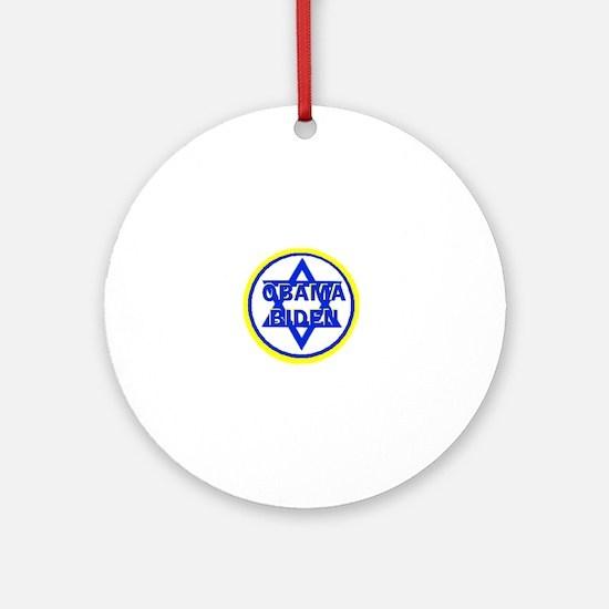 Obama Biden Jewish Ornament (Round)
