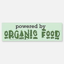 Powered By Organic Food Bumper Bumper Sticker