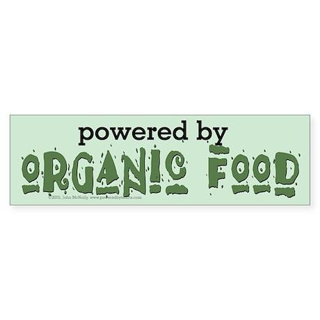 Powered By Organic Food Sticker (Bumper)