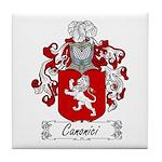 Canonici Family Crest Tile Coaster