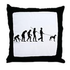 Greyhound Evolution Throw Pillow