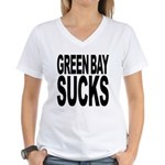 Green Bay Sucks Women's V-Neck T-Shirt