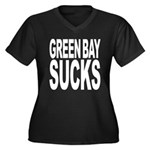Green Bay Sucks Women's Plus Size V-Neck Dark T-Sh