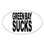 Green Bay Sucks Oval Sticker