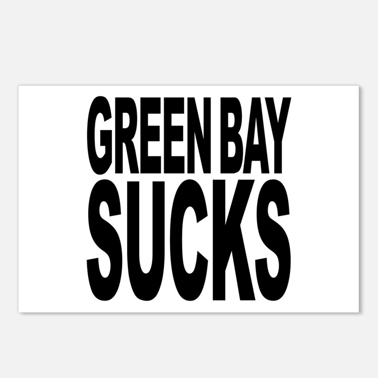Green Bay Sucks Postcards (Package of 8)