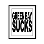 Green Bay Sucks Framed Panel Print