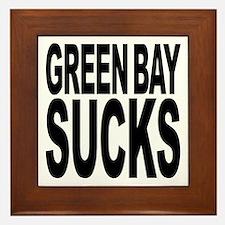 Green Bay Sucks Framed Tile