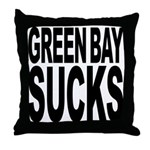 Green Bay Sucks Throw Pillow