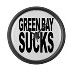 Green Bay Sucks Large Wall Clock
