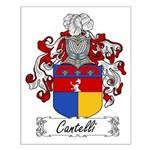 Cantelli Family Crest Small Poster
