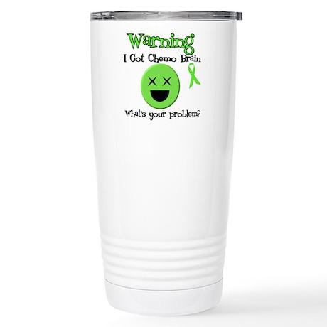 Warning Chemo Brain Stainless Steel Travel Mug