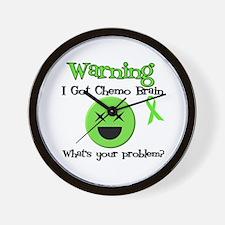 Warning Chemo Brain Wall Clock