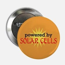 """Powered By Solar Cells 2.25"""" Button"""