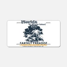 Florida - St. George Island Aluminum License Plate