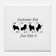Keeshonden Rule Tile Coaster