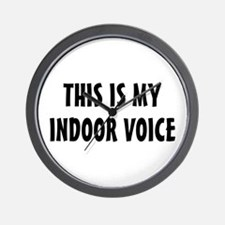 Indoor Voice Wall Clock