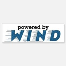 Powered By Wind Bumper Bumper Bumper Sticker