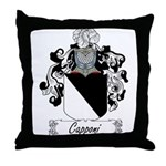 Capponi Family Crest Throw Pillow