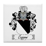 Capponi Family Crest Tile Coaster