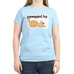 Powered By Cats Women's Pink T-Shirt