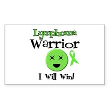 Lymphoma Warrior Rectangle Sticker 10 pk)