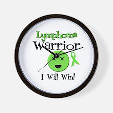 Lymphoma Warrior Wall Clock