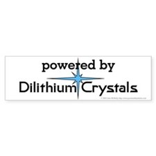 Powered By Dilithium Crystals Bumper Sticker